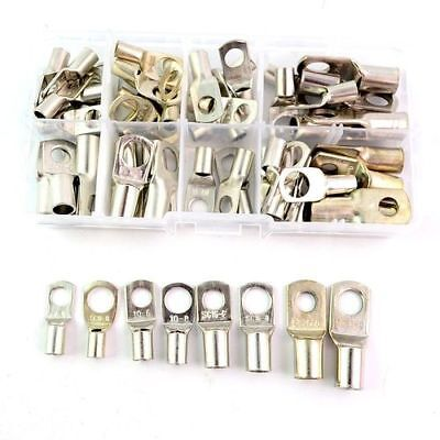 60X Copper Tube Terminals Terminal Electrical Wire Cable Lug Ring Crimp