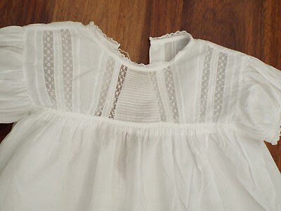 Vintage Baby Christening Dress/lacey Bodice