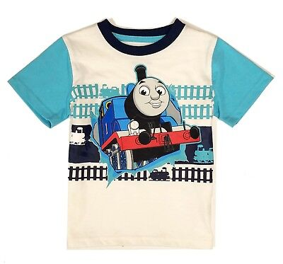 Thomas Friends Short Sleeve 4T Blue White Clothes Toddler Boys Tee Shirt Size 4T