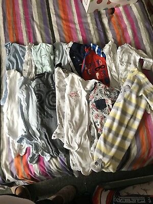 Job Lot Babygrows And Rompers 0-3 Months
