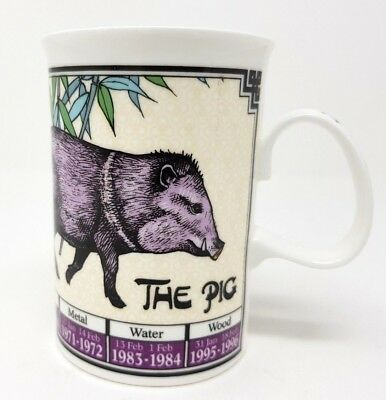 Dunoon Ming Shu - Year Of The Pig Tea/Coffee Mug - Chinese Astrology Zodiac