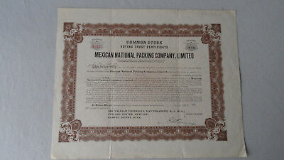 Common Stock-Voting Trust Certificate Mexican National Packing Company-1911