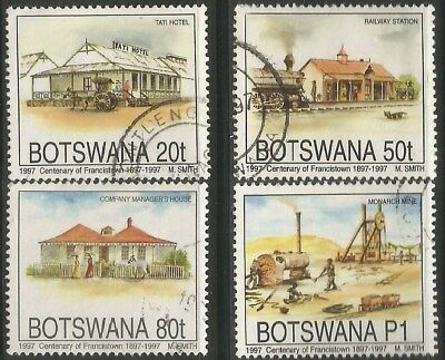 BOTSWANA 1997 FRANCISTOWN CENTENARY Sc#616-9 COMPLETE USED SET 2238