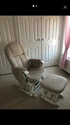 Tutti Bambini Deluxe Glider Chair& Stool Gc35,  White Nursing Chair