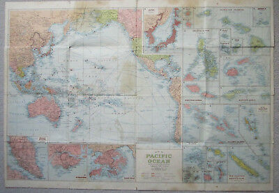 Map of The Pacific Ocean With Shipping Routes & Islands H.E.C. Robinson Sydney