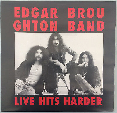 "Edgar Broughton "" Live Hits Harder"" 1991 Rock Productionz LP Vinyl"