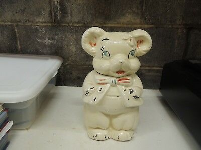 1950's Vintage Turnabout Girl And Boy Bear Cookie Jar
