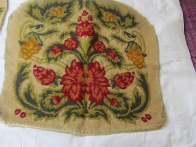 Lovely Vintage Wool Work Tapestry Seat & Arm Covers