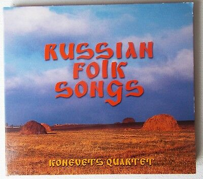 KONEVETS QUARTET Russian Folk songs CD album KQ004CD 2000 Digipak German Gold
