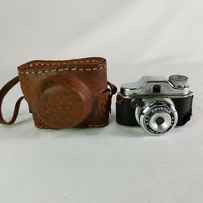 "Colly Camera and Brown Leather Case Subminiature Mini 2"" x 2.5"" - not tested"