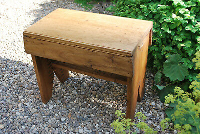 early 1900s vintage sripped  country milking stool