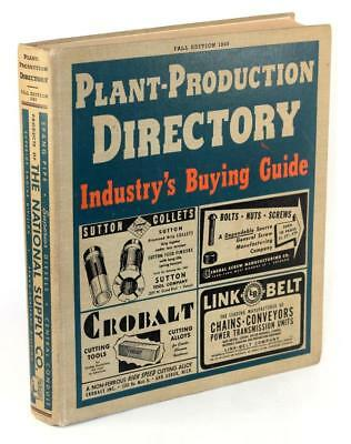 1943 Plant-Production Directory Industry's Buying Guide Industrial Machine Tools