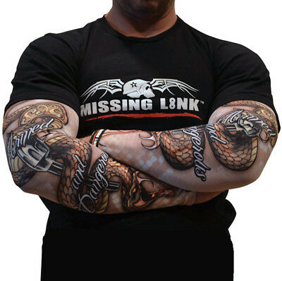 New Missing Link Armpro Compression Sleeves Armed And Dangerous Snakes Xs Spf 50