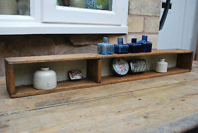 vintage collectors pine box pigeon hole display shelf