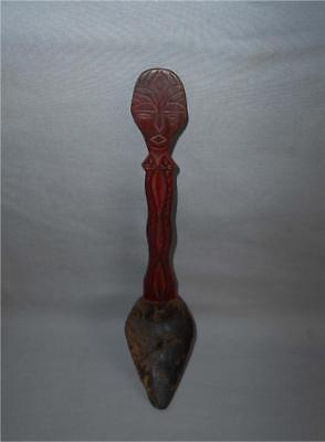 Antique Taiwan TOP PAIWAN BUNIN RUKAI TRIBE WOODEN SPOON COLLECTION Number F