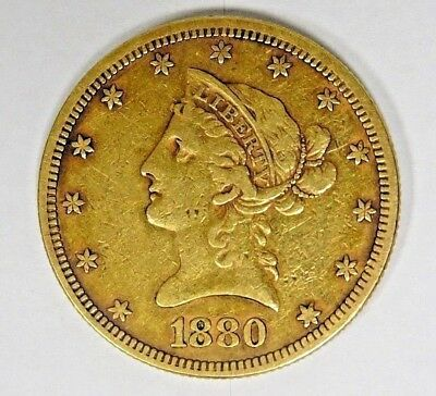 1880 $10 Gold Liberty Eagle Coin