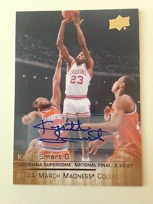 2014/15 Upper Deck NCAA March Madness #ks-1 KEITH SMART autograph Hoosiers