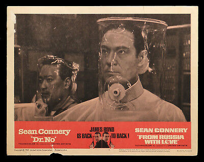 DR NO FROM RUSSIA WITH LOVE original lobby card #4 1965rr James Bond 007