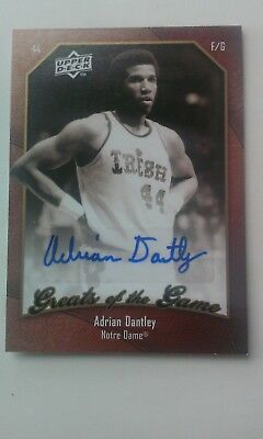 2009/10 Upper Deck Greats of the game #28 ADRIAN DANTLEY autograph Notre Dame