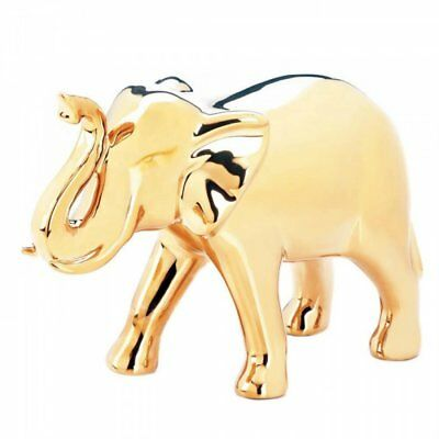 Accent Plus Large Golden Elephant Figure
