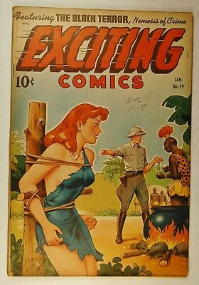 Exciting Comics #59 (Jan 1948, Pines) The Black Terror - Judy of the Jungle