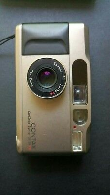 No flash !! Read before buying! CONTAX T2 Carl Zeiss Sonnar 2.8 / 38mm T*