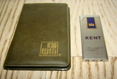 Accendino Win Kent Cigarettes Plat-Lighter-Mechero-Briquet-Feuerzeug-Vintage