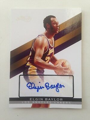 2008/09 Topps Signature ELGIN BAYLOR autograph #d/1299 NBA Los Angeles Lakers!