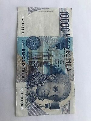 10000 Lire Italy Banknote