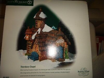 "Dept 56 Dickens Village ""THORNBURY CHAPEL"" #58502  NIB"