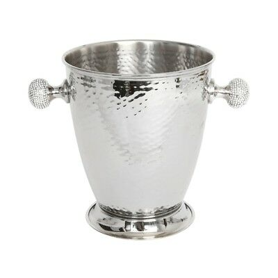 Hammered Wine Cooler With Crystal Handles Champagne Holder Culinary Concepts