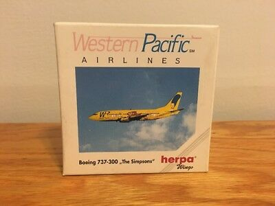 Herpa 1:500 Western Pacific Airlines Boeing 737-300 The Simpsons 500470 NEW