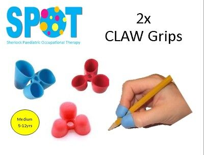 2x CLAW Pencil Grips (Small) *HAND WRITING school OT special needs THERAPY *