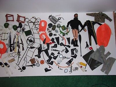 HUGE LOT OF OLD 1960,s 12 INCH G.I. JOE ACCESSORIES and EQUIPMENT for 1 bid