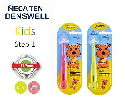 MEGA TEN DENSWELL Kids Step 1 Toothbrush (LIME)1P