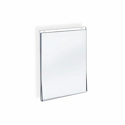 "Azar® 8.5""W X 11""H Acrylic Vertical Wall Mount Acrylic Sign Holder With Adhesive"