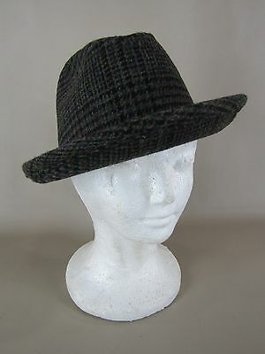 cbfded1fb4502 VINTAGE PENDLETON MEN S hat plaid wool with feathers Size 7 -  8.99 ...