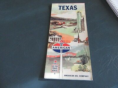 Vintage Road Map 1962 Texas American Standard Gas Oil Nice!   Lot 18-1-D