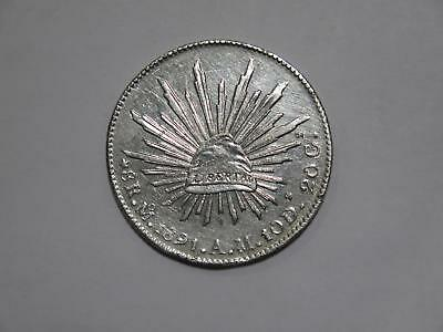 Mexico 1891 Mo Am 8 Reales Silver Crown Size Type World Coin Collection Lot #xxx