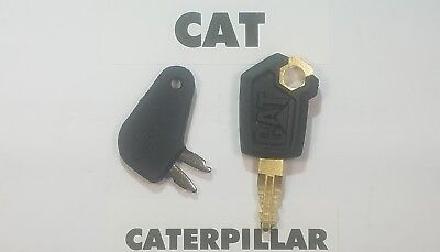( 2 ) CAT  Caterpillar Equipment Keys Set Ignition Key & Master Disconnect Key