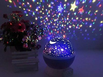 Baby Night Lights for kids USB Battery Powered Moon Stars Projector Lamp Toy