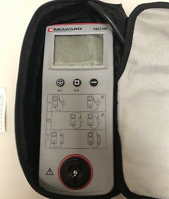 SEAWARD PAC3760 Portable Appliance Tester in Carry case And 70 Test Tags