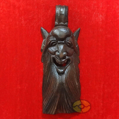 "Chinese Wood Hand Carved NUO MASK Walldecor Art - The God of Longevity 13.3""tall"