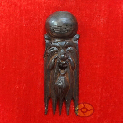 "Chinese Wood Hand Carved NUO MASK Walldecor Art - The God of Longevity 13""tall"
