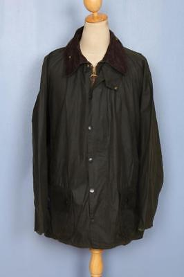 Mens BARBOUR Beaufort Waxed Jacket Green Size 50