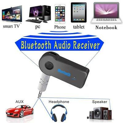 Wireless Bluetooth 3.5mm AUX Audio Stereo Music Home Car Receiver Adapter AU
