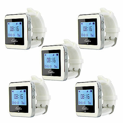 5pcs 433MHz Watch Pager Receiver Waiter Call Pager Restaurant Serve Call Systems
