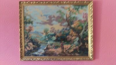 Framed tapestry pictures Constable painting