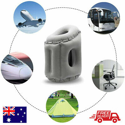 AU Inflatable Foot Rest Travel Air Pillow Cushion Office Home Leg Footrest Relax