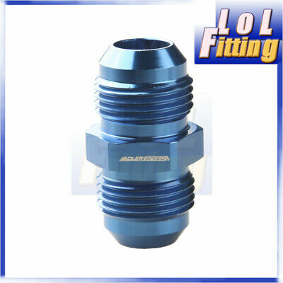 10 AN -10 To AN10 Aluminium Straight Male Flare Union Fitting Adapter Blue